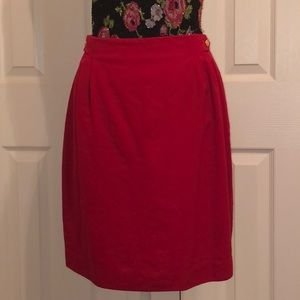 JH Collectibles red wool skirt